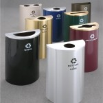 Glaro Half Round Recycle Pro Receptacles