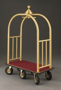 Glaro Six Wheel Bellman Cart 8868BE (Brass Enamel)