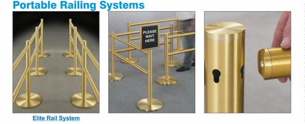 Glaro Elite Portable Pedestrian Guidance &amp; Crowd Control Railing Systems