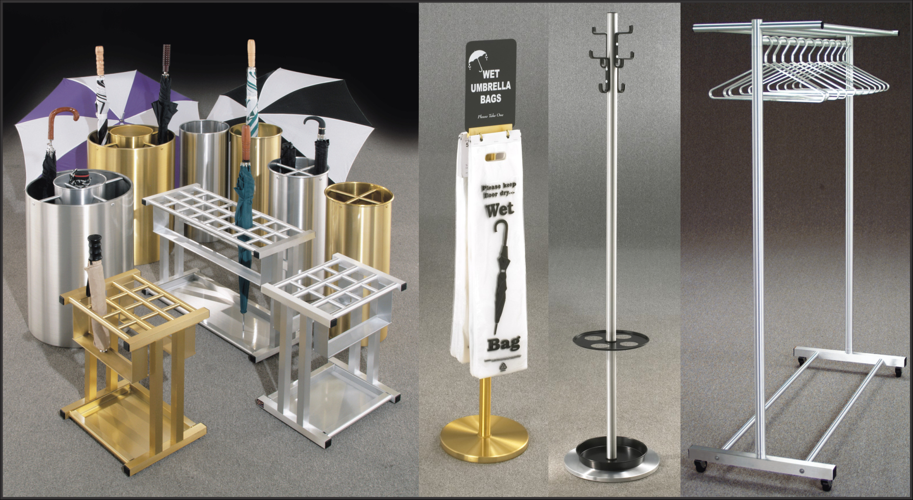what are the advantages of having wet umbrella bag holders and umbrella stands in your facility yearround