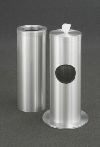 glaro sani wise wipes dispenser receptacle satin aluminum