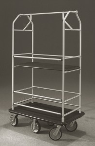 Glaro Inc. Condo Cart 5648 Satin Aluminum Multi-Shelf