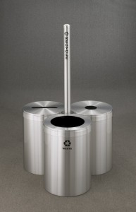Glaro Modular Recycling Receptacles with Sign Post