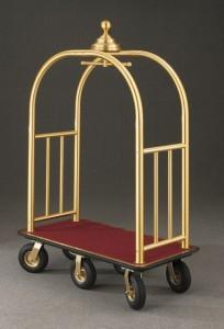 Glaro Six Wheel Bellman Cart 8868BE (Brass Enamel)