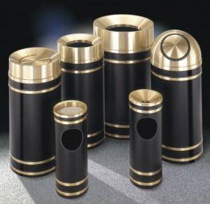 glaro monte carlo brass designer trash receptacles